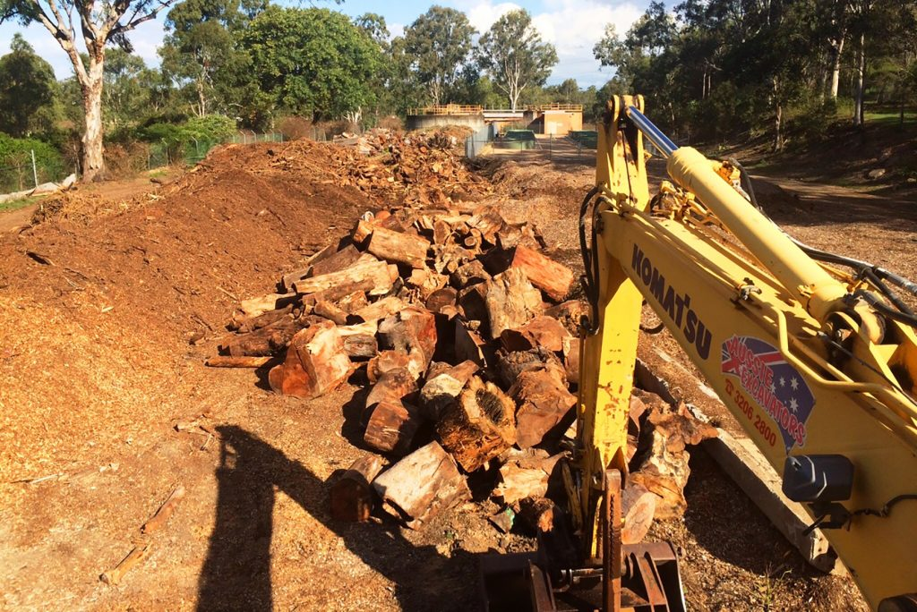 14T Excavator Land Clearing