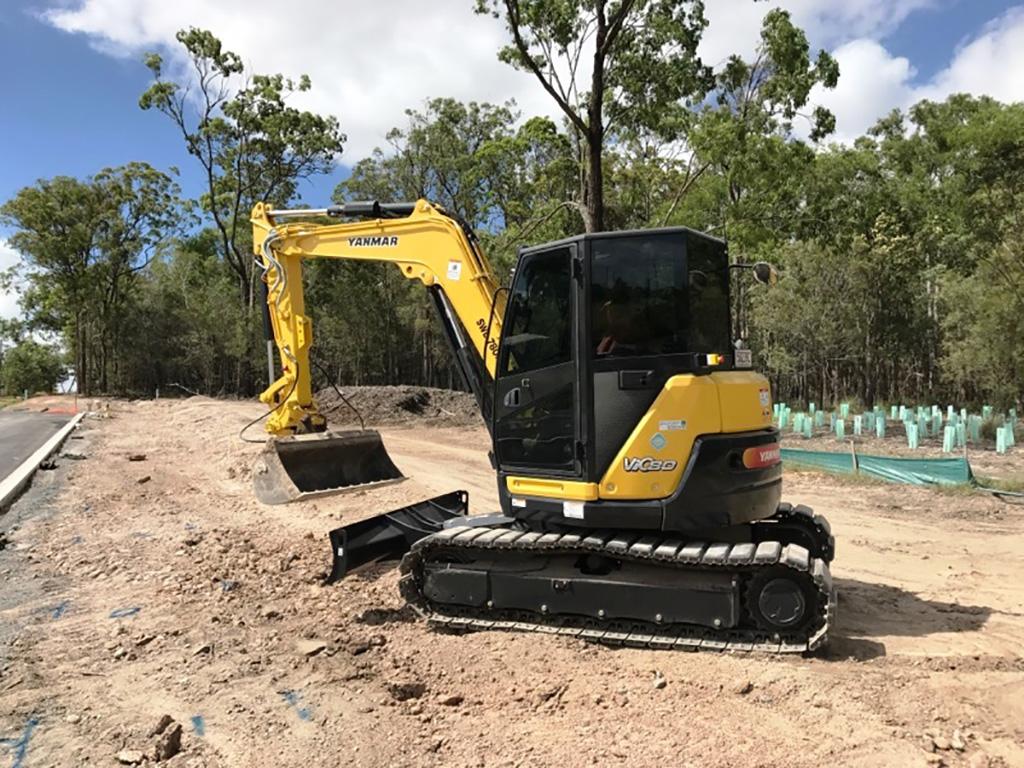 excavator hire - machine hire brisbane