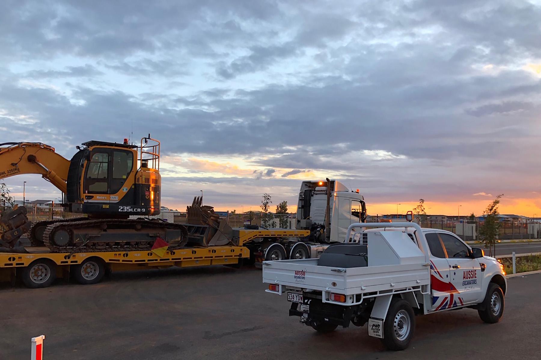 excavator hire - plant hire company brisbane